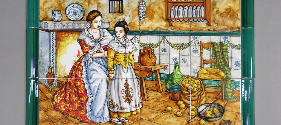 Murales de cer mica artesanal xavier claur galer a 6 Ceramica artesanal valencia
